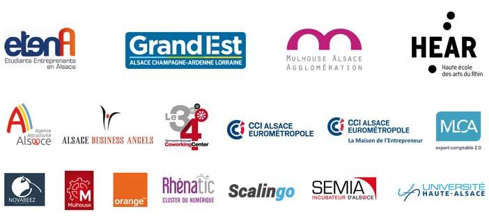 Logo partenaires Startup Weekend Mulhouse 2017